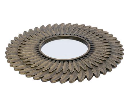 Espelho Feathers - Dourado Envelhecido   WestwingNow
