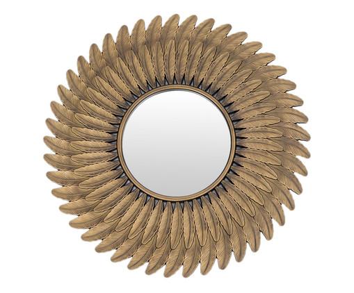 Espelho Feathers - Dourado Envelhecido, Dourado | WestwingNow