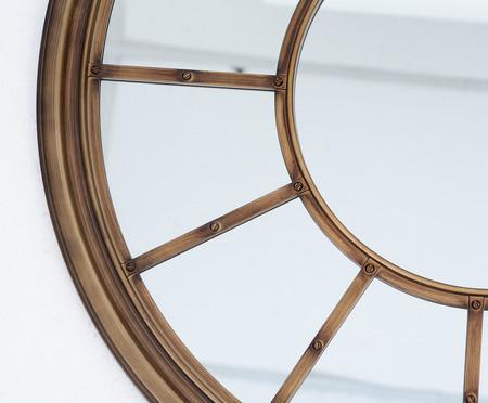 Espelho Escotilha - Dourado Envelhecido | WestwingNow