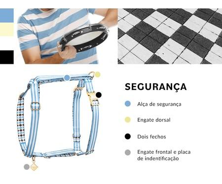 Peitoral Educativo H Slim para Cachorros Samba - Azul   WestwingNow