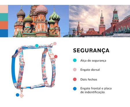 Peitoral Educativo H Slim para Cachorros Moscow - Rosê | WestwingNow