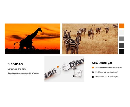 Coleira para Gatos South Africa - Colorida | WestwingNow