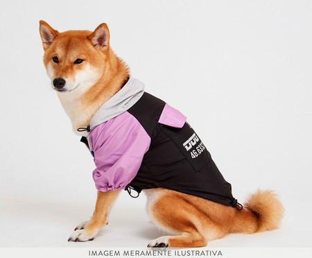 Jaqueta Corta Vento para Cachorro Blush - Preto e Rosa   WestwingNow