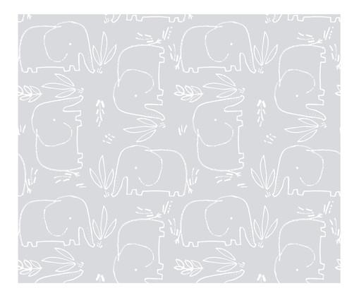 Tapete Selva Elefantes, Cinza | WestwingNow