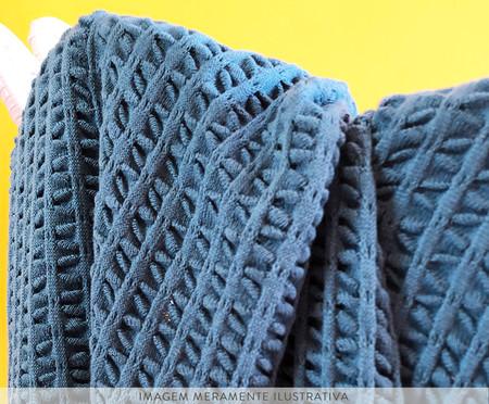 Manta em Tricô Laço - Azul | WestwingNow