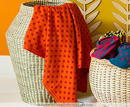 Manta em Tricô Mini Poá - Laranja | WestwingNow