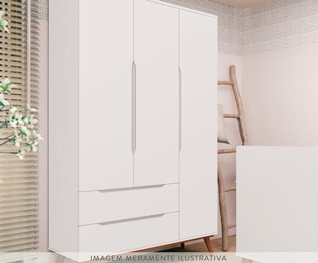 Armário Retrô Branco e Wood - 03 Portas | WestwingNow