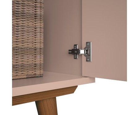 Cômoda com Porta Retrô - Rosê e Wood | WestwingNow