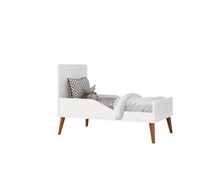 Berço 2 em 1 Retrô - Branco e Wood | WestwingNow