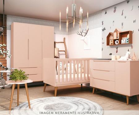Armário Aurora - Rosê e Wood | WestwingNow