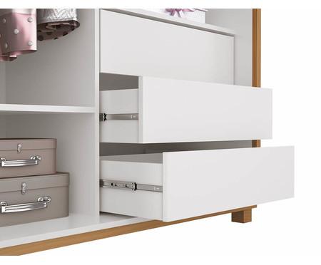 Armário Sleep Branco e Wood - 02 Portas | WestwingNow