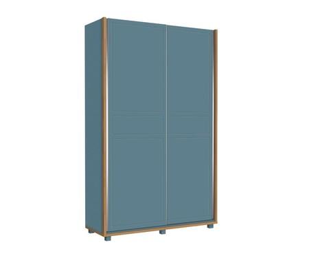 Armário Sleep Azul e Wood - 02 Portas | WestwingNow