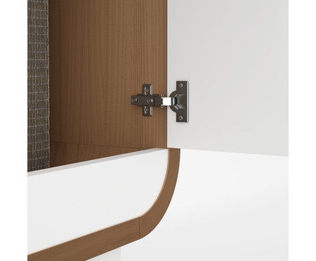 Cômoda com Porta Aurora - Wood e Branco | WestwingNow