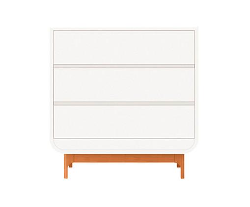 Cômoda com Gaveteiro Aurora - Branco e Wood, Branco | WestwingNow