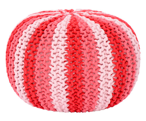 Pufe em Tricô - Rosa, Vermelho, Rosa | WestwingNow