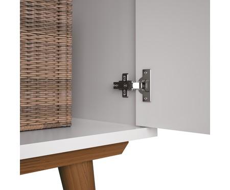 Cômoda com Porta Retrô - Branco e Wood | WestwingNow