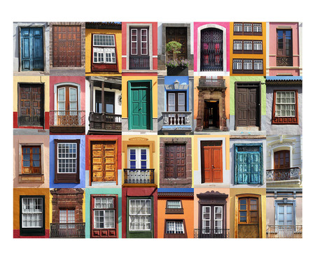 Placa de Madeira Decorativa Doors   WestwingNow