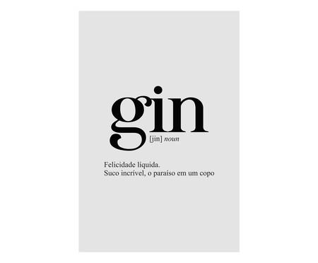 Placa de Madeira Decorativa Gin   WestwingNow
