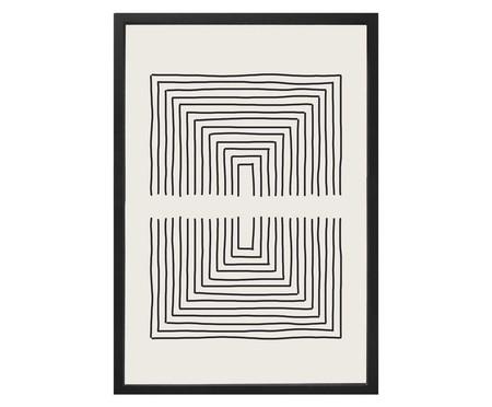 Quadro com Vidro Linhas Preto e Branco - 40x60 | WestwingNow