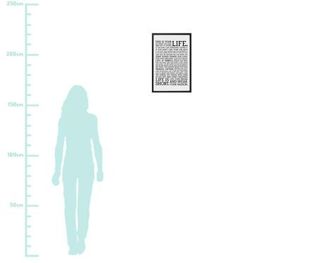 Quadro com Vidro Frases Leah- 40x60   WestwingNow