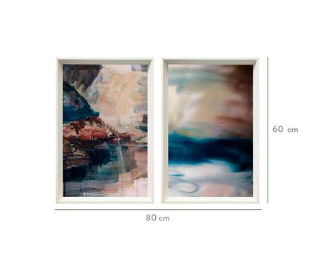 Jogo de Quadros com Vidro Abstratos Millen   WestwingNow