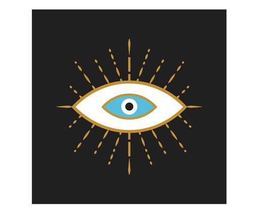 Placa de Madeira Decorativa Olho, Multicolorido | WestwingNow