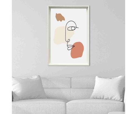 Quadro com Vidro Rosto Abstrato - 60x90cm   WestwingNow