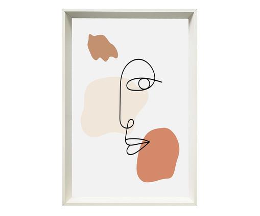 Quadro com Vidro Rosto Abstrato - 60x90cm, Multicolorido | WestwingNow