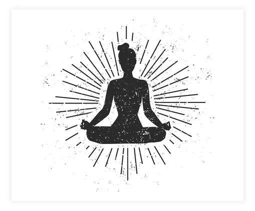 Placa de Madeira Decorativa Meditação, Multicolorido   WestwingNow
