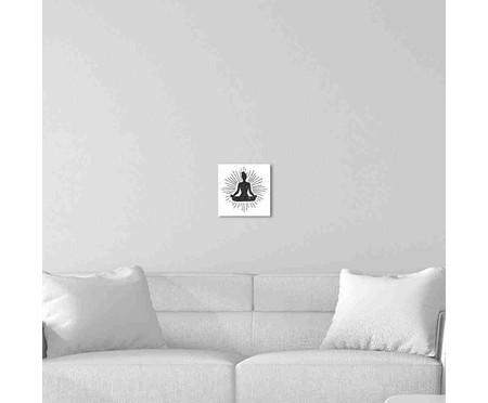 Placa de Madeira Decorativa Meditação | WestwingNow