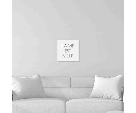 Placa de Madeira Decorativa La Vie Est Belle | WestwingNow