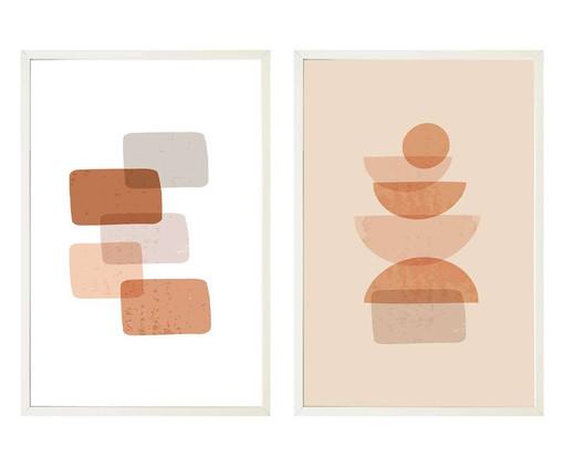 Jogo de Quadros com Vidro Formas - 40x60, Multicolorido | WestwingNow