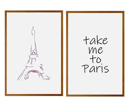 Jogo de Quadros com Vidro Paris | WestwingNow