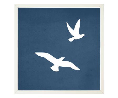 Quadro com Vidro Pássaros - 30x30   WestwingNow