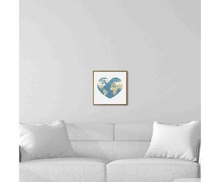 Quadro com Vidro Mapa - 30x30 | WestwingNow