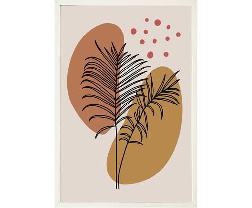 Quadro com Vidro Folhas Ethel - 30x45cm, Multicolorido | WestwingNow