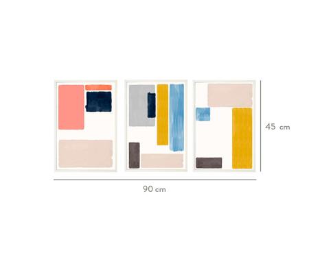 Jogo de Quadros com Vidro Abstratos   WestwingNow