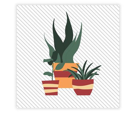 Placa de Madeira Decorativa Vasos de Plantas   WestwingNow