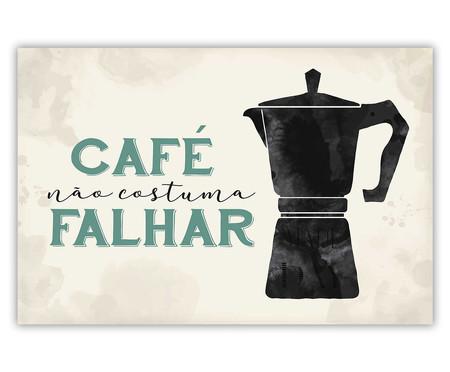 Placa de Madeira Decorativa Café   WestwingNow