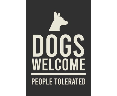 Placa de Madeira Decorativa Dogs Welcome   WestwingNow