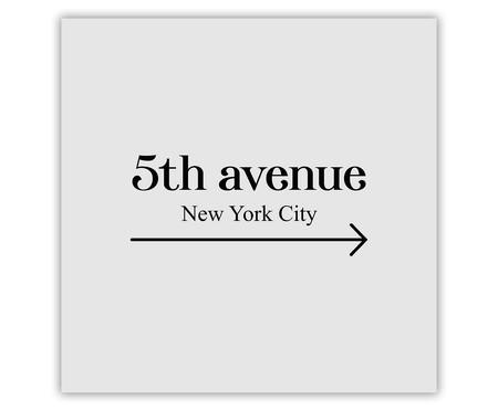 Placa de Madeira Decorativa 5th Avenue   WestwingNow