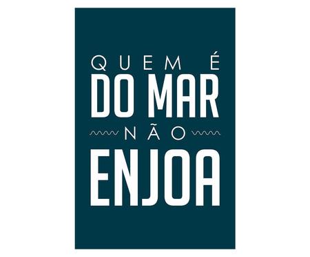 Placa de Madeira Decorativa Quem É Do Mar Não Enjoa   WestwingNow