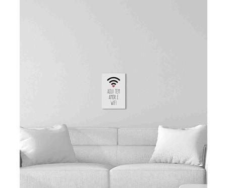 Placa de Madeira Decorativa Aqui tem Amor e Wifi   WestwingNow