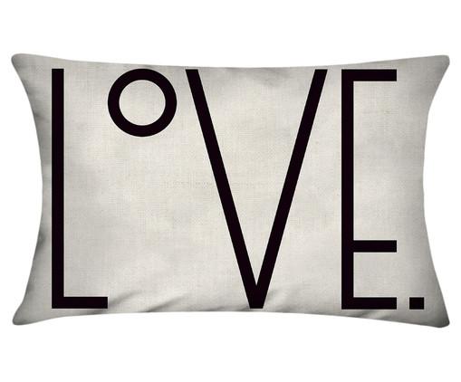 Capa de Almofada em Linho Misto Love Jacob, Colorido | WestwingNow