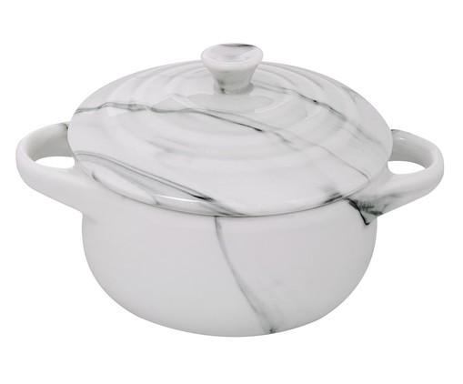 Mini Cocotte em Porcelana Redondo Marble - Branco, Mármore | WestwingNow