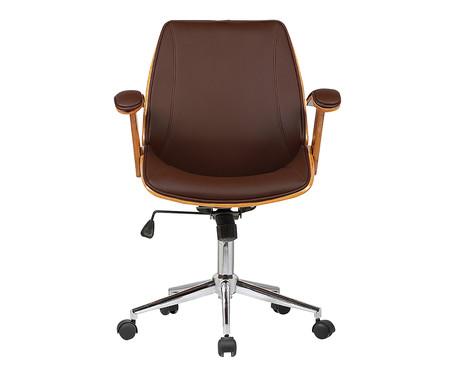Cadeira de Escritório com Rodízio Villani - Marrom | WestwingNow