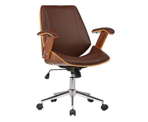 Cadeira de Escritório com Rodízio Villani - Marrom, Marrom | WestwingNow
