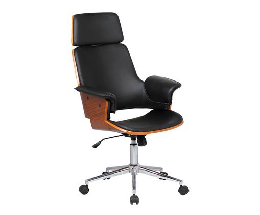 Cadeira de Escritório com Rodízio Ginger - Preto, Preto | WestwingNow