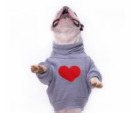 Moletom para Cachorro Heart - Cinza | WestwingNow