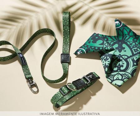 Coleira para Cachorro Mandala Jungle - Verde   WestwingNow